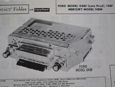 1960 FORD 04BF (Late Production),1961 FORD 14BF, & MERCURY 14BM RADIO PHOTOFACT