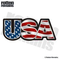 USA Decal Sticker American Flag United States Old Glory Vinyl Car EMV