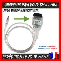 Interface diagnostic INPA K+DCAN OBD2 pour BMW MINI + commutateur switch -