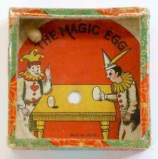 Pre-War Japan Antique Dexterity Game Puzzle The Magic Egg Patience Toy Clowns