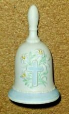 "George Good Porcelain Cross Bell w Flowers - 4.5"" Tall x 3"" wide"
