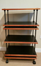 Salamander Archetype Modular Audio Stand: 7 Adjustable Shelves Black and Cherry