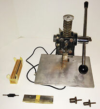 Jackson Marking STAMP DIE CUTTER press with blades, hole punches