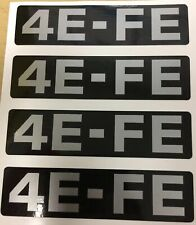 Toyota 4EFE Timing Belt Cover Decal Sticker Corolla Starlet