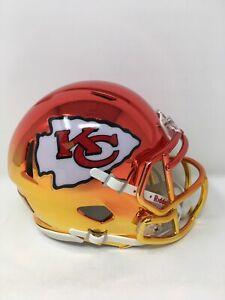 Chiefs custom two tone CHROME  riddell speed mini helmet