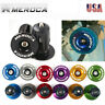 Expansion Lockout Bike Bar End Plugs Caps AL M4 Screw MTB Bicycle 22~24mm Length