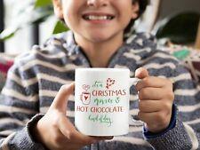 Kids Hot Chocolate Christmas Movies Mug Christmas Coffee Mug 11oz - Xmas Gift