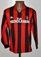 AC MILAN ITALY 1989/1990 HOME FOOTBALL SHIRT JERSEY KAPPA VINTAGE LONG SLEEVE