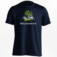 Seattle Seahawks T-Shirt - NFL Gloves Design - S-5XL