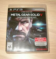 PLAYSTATION 3 * METAL GEAR SOLID V GROUND ZEROES * 2014 BL NO MANUAL DISC MINT!