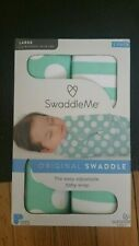SwaddleMe Original Swaddle 100% Cotton Green- Size Large 3-6 months 14-18lbs New