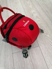 Littlelife baby backpack reins red lady bird