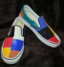 Women's Vans Colorful Patchwork Classic Slip On Shoes Size 7.5