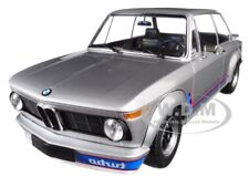1973 BMW 2002 TURBO SILVER W/ STRIPES 1/18 DIECAST MODEL BY MINICHAMPS 155026201