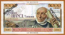 SPECIMEN, Reunion, 5000 Francs, ND (1947), Pick 48 UNC