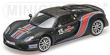 Porsche 918 Spyder 2013 Weissach Package with Martini Stripes 1:43 Minichamps