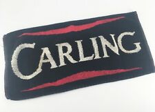 Vintage Carling Black Label Lager Bar Towel - Traditional British Pub Beer Mat