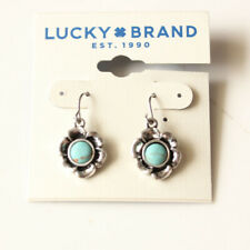 New Lucky Brand Faux Turquoise Flower Drop Earrings Gift Vintage Women Jewelry