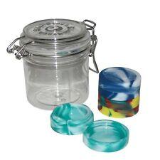 Set Of 3 Oil Slick Stack Non-Stick Concentrate Container No Goo Slickballs Black
