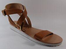 NEW Women's JORE GIGI Brown Flats Buckle Slides Sandals Shoes SZ 8