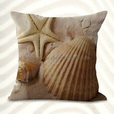 Us Seller-decor pillows beach seaside scenery shells starfishes cushion cover