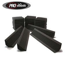 AFHS Pro Acoustic Foam Home Studio Room Treatment Kit 24 tiles & 4 Bass Traps