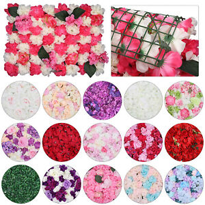 New Artificial Flower Wall Panel Choose Color & Quantity for Wedding Reception