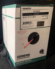 Genesis 162 Plenum Fire Alarm Cable Plenum Fplp 1000 Ft Pull Box Red