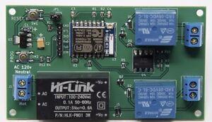 NEW Web Controlled Dual Relay 120/240 V Smart Home Internal & External Antenna