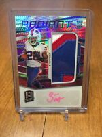 2020 Panini Spectra Neon Pink RPA Radiant Rookie Patch Auto ZACH MOSS 12/25