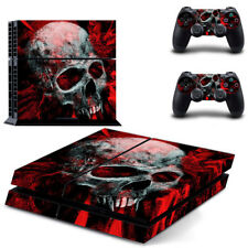 Skull Red Decal Cover Skin Sticker For PS4 PlayStation4 Console 2 Controller USA