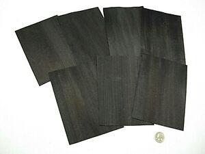 1 Lot Of 7pcs Dyed Black Raw Veneer Shorts, Lot #111