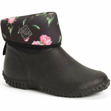 NEW MUCK MUCKSTER MID II BLACK ROSES WOMENS BOOTS GARDEN WATERPROOF FREE SHIP