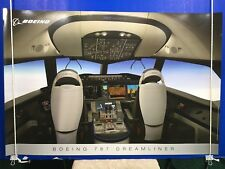 """Boeing 737 Dreamliner Poster Cockpit 36"""" x 24"""" Glossy High Quality Thick Paper"""