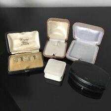Lot 5 Écrins Anciens Boites Bijoux fin XIXè - 5 French Victorian Jewel Cases Box
