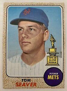 1968 TOPPS BASEBALL #45 TOM SEAVER NY Mets All Star Rookie