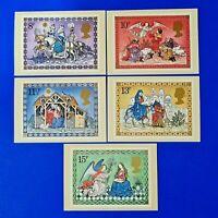 Set of 5 PHQ Stamp Postcards Set FDI Gutter Pairs Back No.40 Christmas 1979 LH2