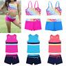 Girls Swimwear Kids Tankini Set Swimsuit Beachwear Tops+Bottoms Bikini 2 Pieces