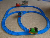Tomy Trackmaster trainset WELLSWORTH station, friction trains THOMAS PERCY JAMES