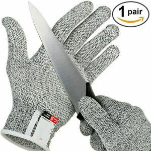 1 Paar Schnittfeste Schnittschutz Handschuhe für Metzger Küche Glas Arbeit  Neu