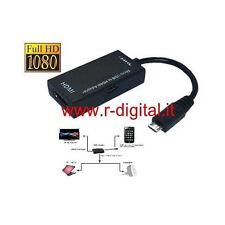 ADATTATORE HDMI MICRO USB CELLULARE GALAXY S2 S3 S4 S5 S6 S7 NOTE ADATTATORE