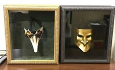 Pair of Framed Masquerade Masks