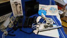 BLACK-001 Nintendo Wii  Console MARIO KART& WII SPORTS BUNDLE TESTED WORKS.