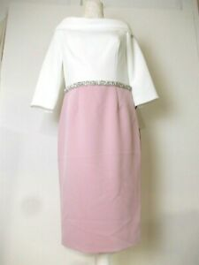 mother of the bride/special occasion dress size 10 Ivory/blush pink Ronald Joyce
