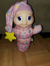 Vintage 1988 Playskool GloWorm Pink Pjs Stars Glow Worm Baby No light Bedtime