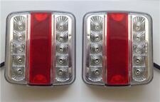 2 x 12V LED REAR TAIL LIGHTS LAMPS 5 FUNCTION / TRAILER CARAVAN TRUCK VAN E-MARK