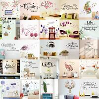 Quote Wall Stickers Vinyl Art Home Room DIY Decal Home Decor Removable Mural TDO