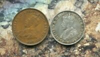 AUSTRALIA - BEAUTIFUL HISTORICAL GEORGE V, 1921 SILVER FLORIN (6 PEARLS) + GIFT