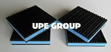 4 PACK ANTI VIBRATION PADS ISOLATION DAMPENER SUPER HEAVY DUTY BLUE 4x4x7/8