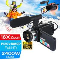 Vlog Camcorder Digital Video YouTube Vlogging Camera Recorder Microphone Lens !